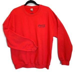 COCA COLA Zero Sugar Logo Fleece Lined Sweatshirt